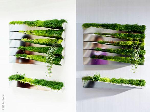Mobilier Vegetal Mural Par H2o Architectes