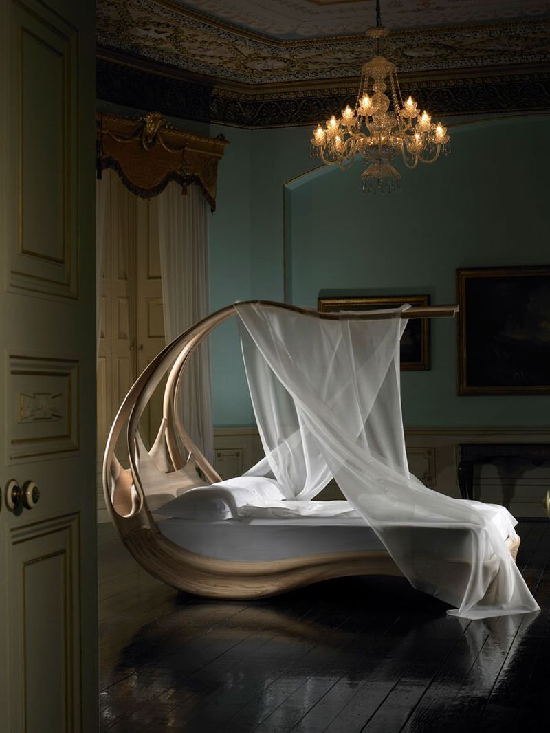le lit enignum canopy de joseph walsh la bulle archi design. Black Bedroom Furniture Sets. Home Design Ideas