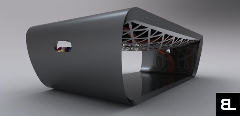 Billard blacklight par toulet la bulle archi design - Billard moderne ...